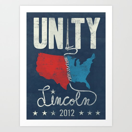 Lincoln 2012 - Unity Art Print
