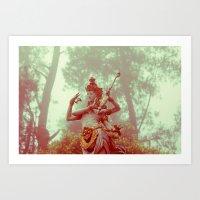 goddess Art Prints featuring Goddess by Farkas B. Szabina