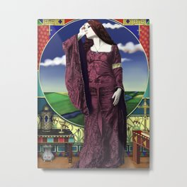 The lady of shallot by A.Harrison Metal Print