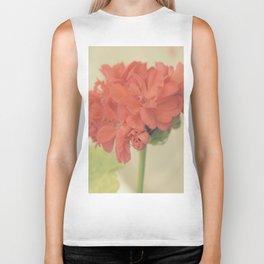Zonal Pelargonium Flower Biker Tank