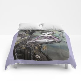 Lavender Treehouse by Lizzy Falcon Comforters