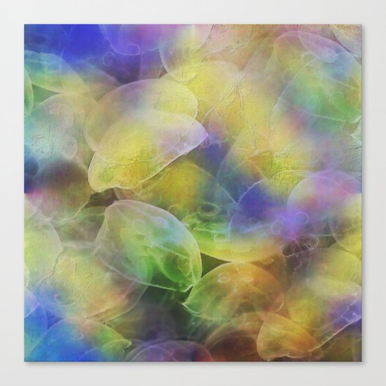 Jellyfish pattern Canvas Print
