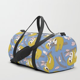 Sloth pattern in blue Duffle Bag