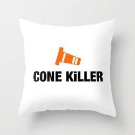 Cone Killer v4 HQvector Throw Pillow
