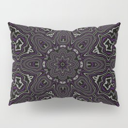 Purple, Gray, and Black Kaleidoscope Pillow Sham