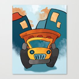 Dump Truck, Construction Truck, Perfect for Child's Bedroom or Kid's Playroom Canvas Print