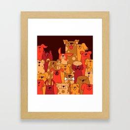 Pile of Woofs Framed Art Print
