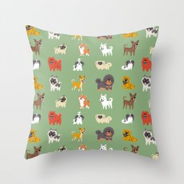 ASIAN DOGS Throw Pillow