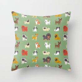 ASIAN DOGS Throw Pillow