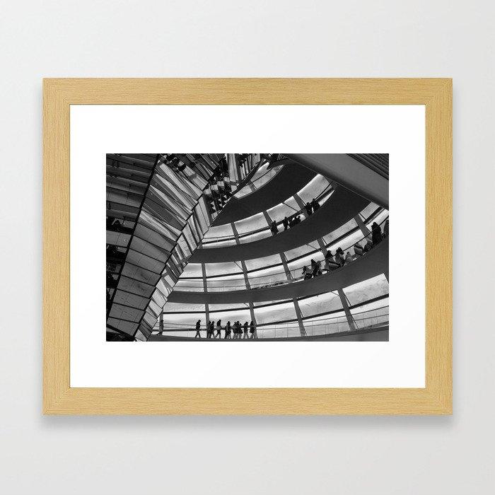 Berlin Reichstag Building, Germany. Framed Art Print