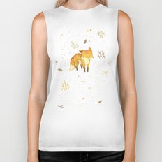 Lonely Winter Fox Biker Tank