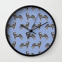 Australian Cattle dog must have gifts for cattle dog owners dog breed pet friendly unique dog art Wall Clock