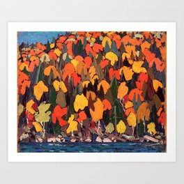 Tom Thomson ‑ Autumn Foliage - Canada, Canadian Oil Painting - Group of Seven Art Print