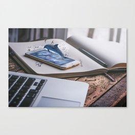 Mobile Aquatic Device Canvas Print