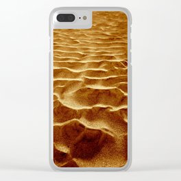 Golden Sands of The Outer Banks Clear iPhone Case