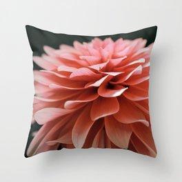 Dahlia Pink Throw Pillow