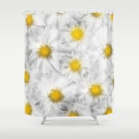 daisies Shower Curtains featuring Daisies by Klara Acel