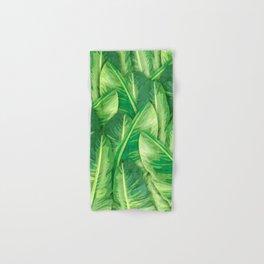 Banana Leaf 1 - Banana Leaf Pattern 1 - Tropical Leaf Print - Botanical Art - Green Hand & Bath Towel