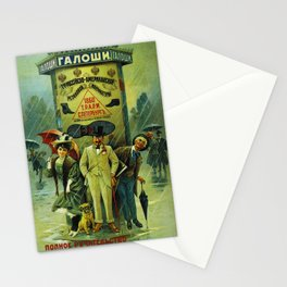 Vintage Russian Galoshes Advertisement Stationery Cards