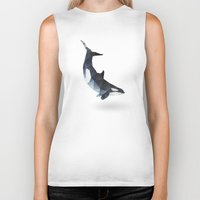 killer whale Biker Tanks featuring Killer Whale by The animals moved to - society6.com/dian