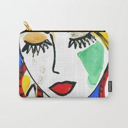 Girl Portrait Pop Art Carry-All Pouch