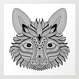 Foxy Fox Dark Art Print