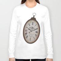 wall clock Long Sleeve T-shirts featuring Vintage Clock by Mirakyan