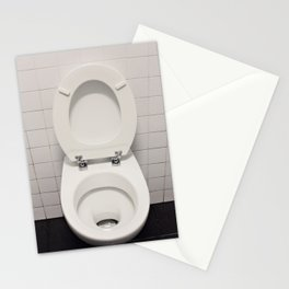 Water closet dirty Stationery Cards