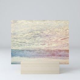 Ethereal Summer Morning #mixedmedia #beach Mini Art Print