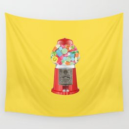happy pills yellow Wall Tapestry