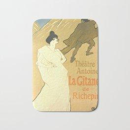 """Henri de Toulouse-Lautrec """"Théatre Antoine, la Gitane de Richepin"""" Bath Mat"""