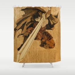 Warrior Guts from the Berserk anime Shower Curtain
