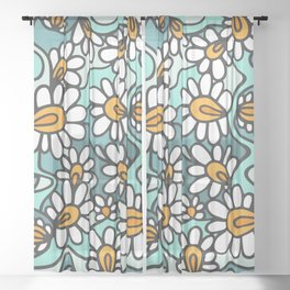 Daisies Sheer Curtain