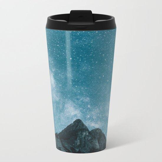 Blue Mountains Blue Sky - Landscape Photography Metal Travel Mug