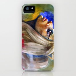 Woman in Music II iPhone Case