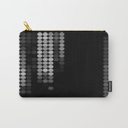 Shades Of Grey Dot Pattern - Rustic Glam Carry-All Pouch