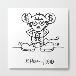 Keith Haring: Andy Mouse, 1985 Metal Print