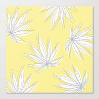 weed Canvas Prints featuring weed by Estelle F