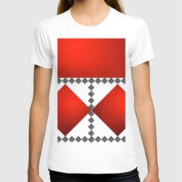 Luxury pattern of red and grey background 03 T-shirt