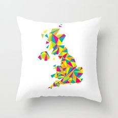Abstract United Kingdom Bright Earth Throw Pillow