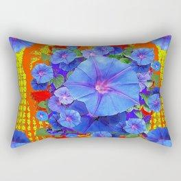 BLUE MORNING GLORIES YELLOW-ORANGE  PATTERN Rectangular Pillow