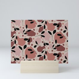 Ceramic Pattern // Neutral Pottery // Terracotta and Leaves Seamless Repeat // Clay Lovers Mini Art Print