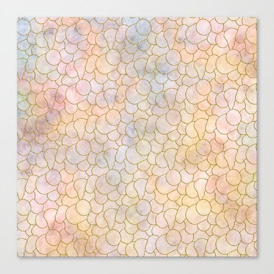 SOFT PASTELS PATTERN (abstract) Canvas Print