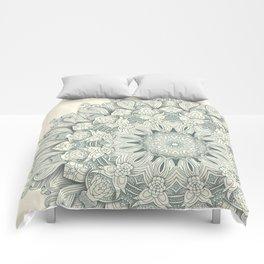 Flowers in the Sea - Mandala Comforters