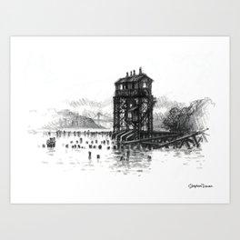 Pier I Gantry, Hudson River Art Print
