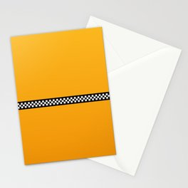 NY Taxi Cab Yellow with Black and White Check Band Stationery Cards