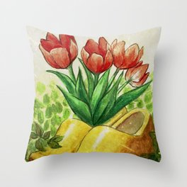 Home in Holland Throw Pillow
