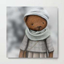 mommy bear /Agat/ Metal Print