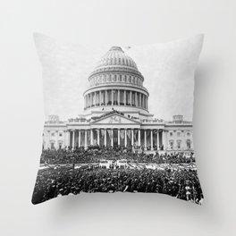 Teddy Roosevelt Inauguration - U.S. Capitol - 1905 Throw Pillow