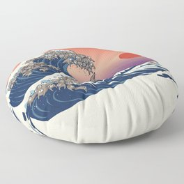 The Great Wave of Sloth Floor Pillow